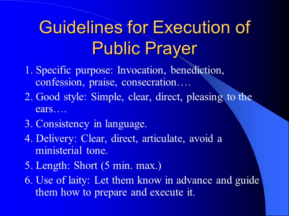 Kinds of Prayer by Purpose 1.Invocation. 2.