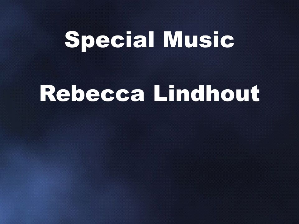 Special Music Rebecca Lindhout