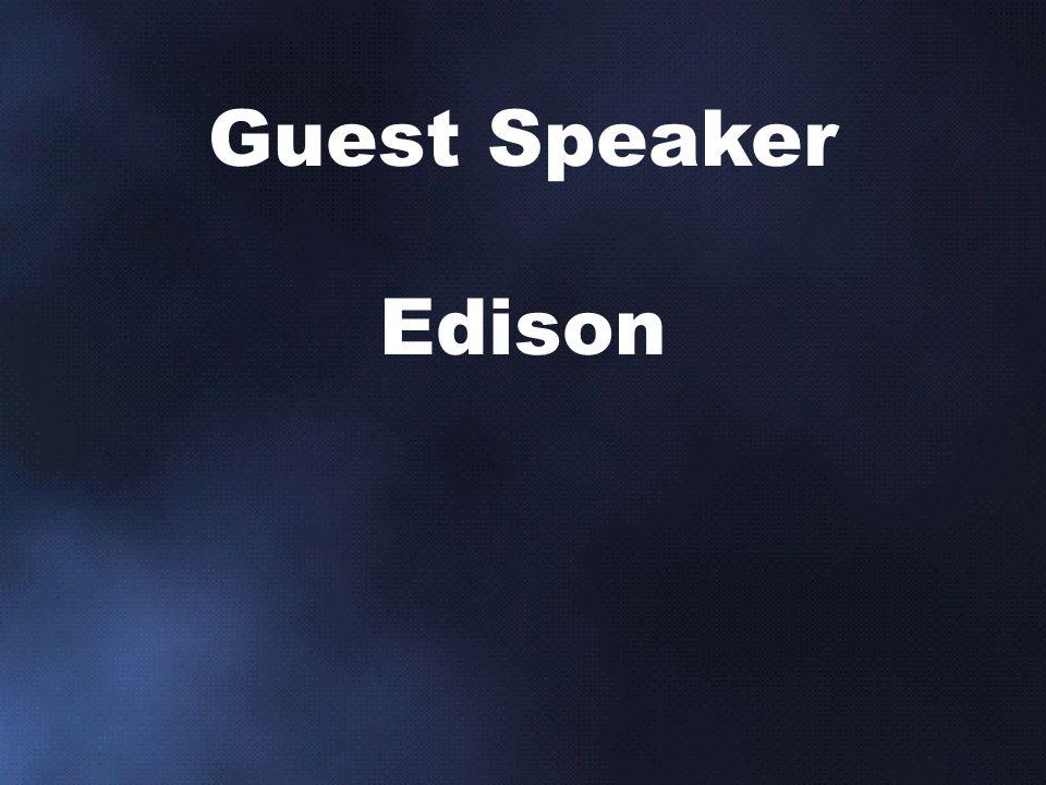 Guest Speaker Edison