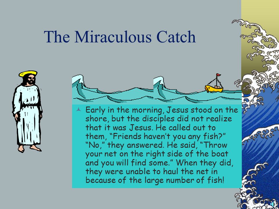 Going fishing… Simon Peter, Thomas, Nathaneal from Cana in Galilee, the son of Zebedee, and two other disciples were together.