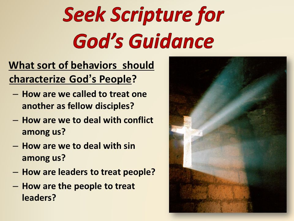 What sort of behaviors should characterize God's People.