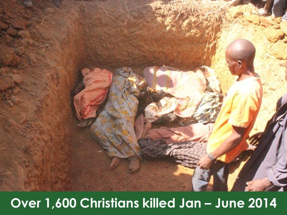 Over 1,600 Christians killed Jan – June 2014