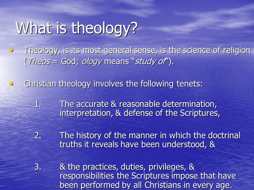 What is theology.