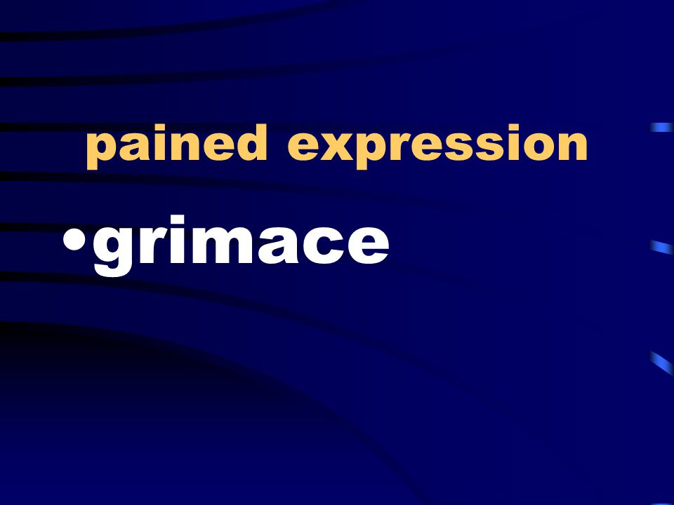 pained expression grimace