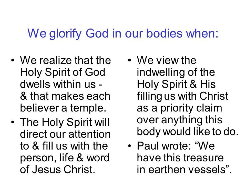1 Corinthians 6:18-20 Flee immorality.
