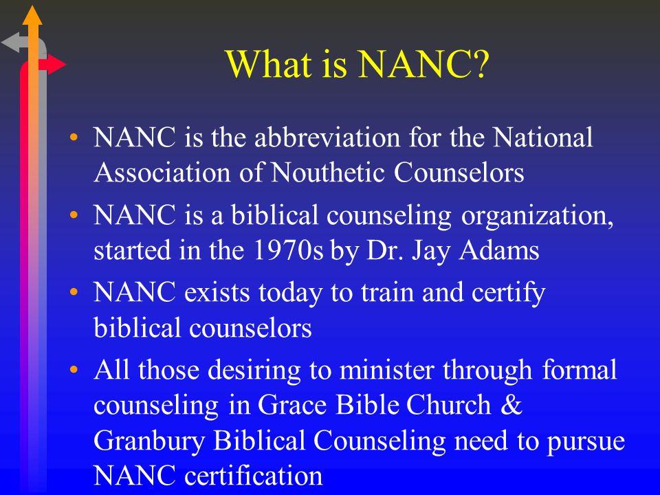 What is NANC.
