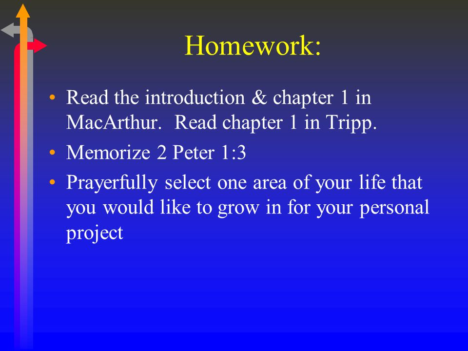 Homework: Read the introduction & chapter 1 in MacArthur.