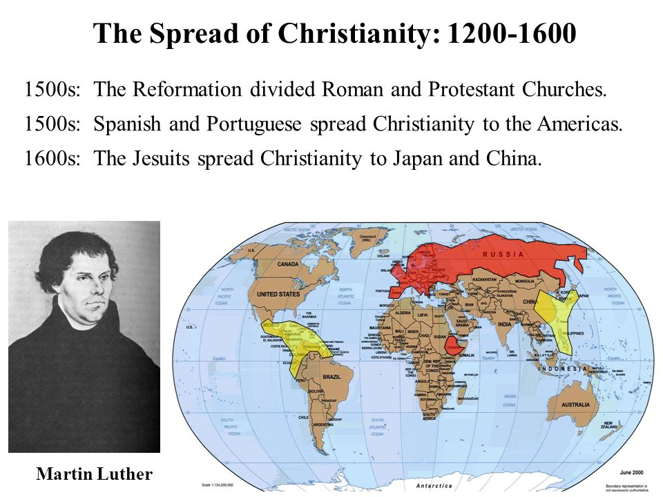 The Spread of Christianity: 1600-2000 1800s: William Carey started mission agencies and went to India.