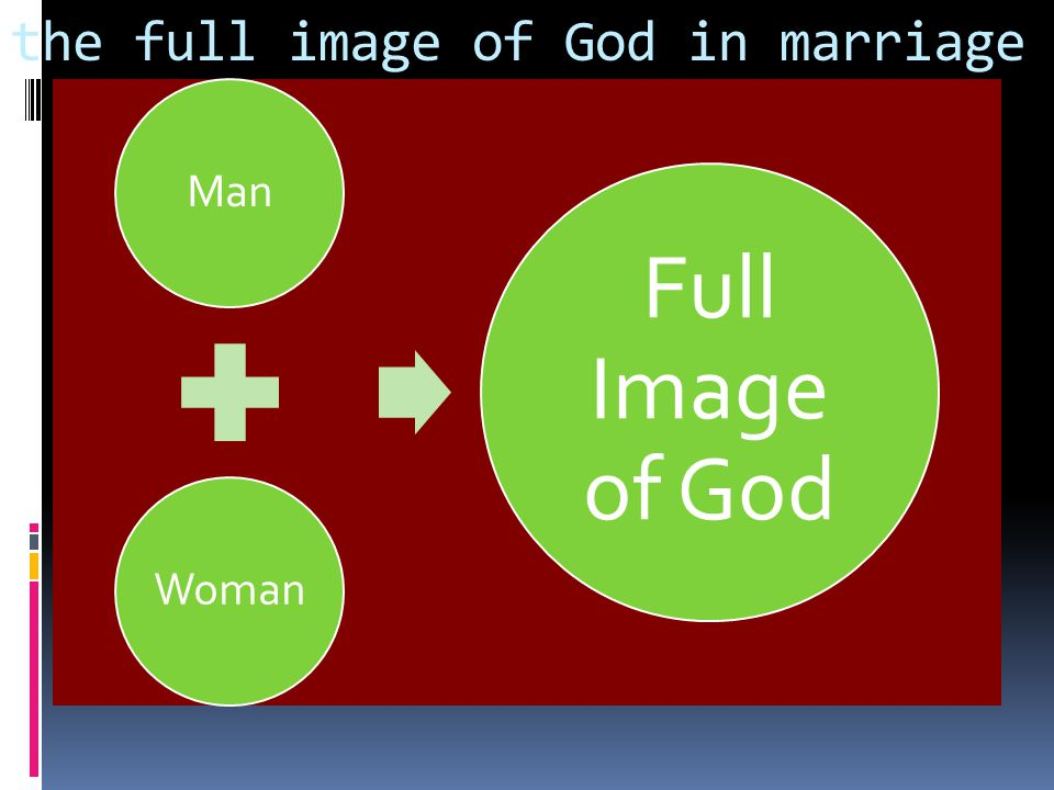 the full image of God in marriage ManWoman Full Image of God