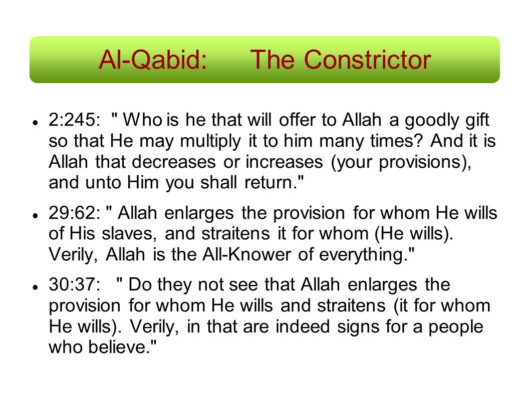 Al-Qabid:The Constrictor 2:245: