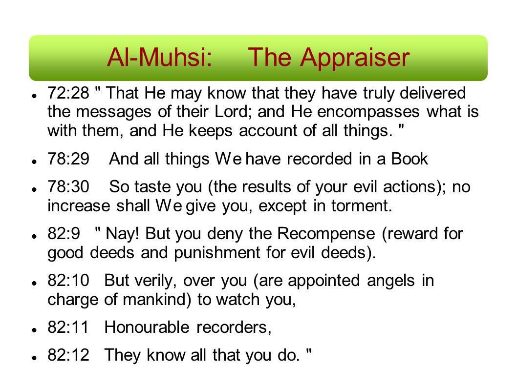 Al-Muhsi:The Appraiser 72:28