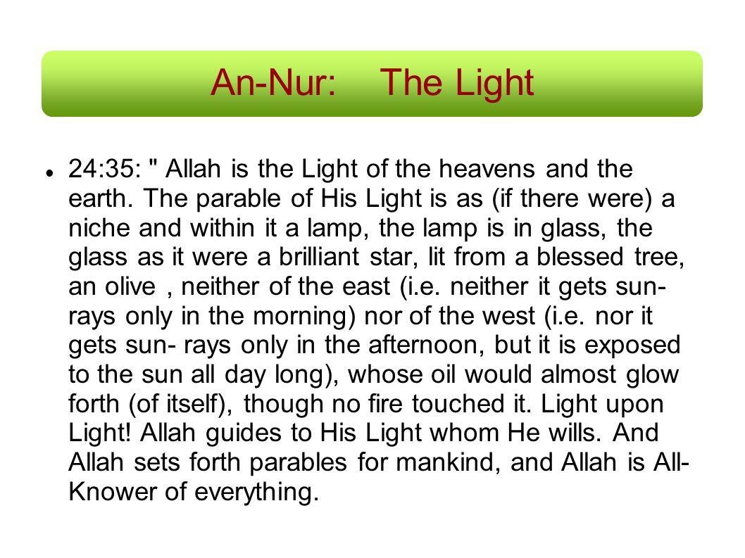 An-Nur:The Light 24:35: