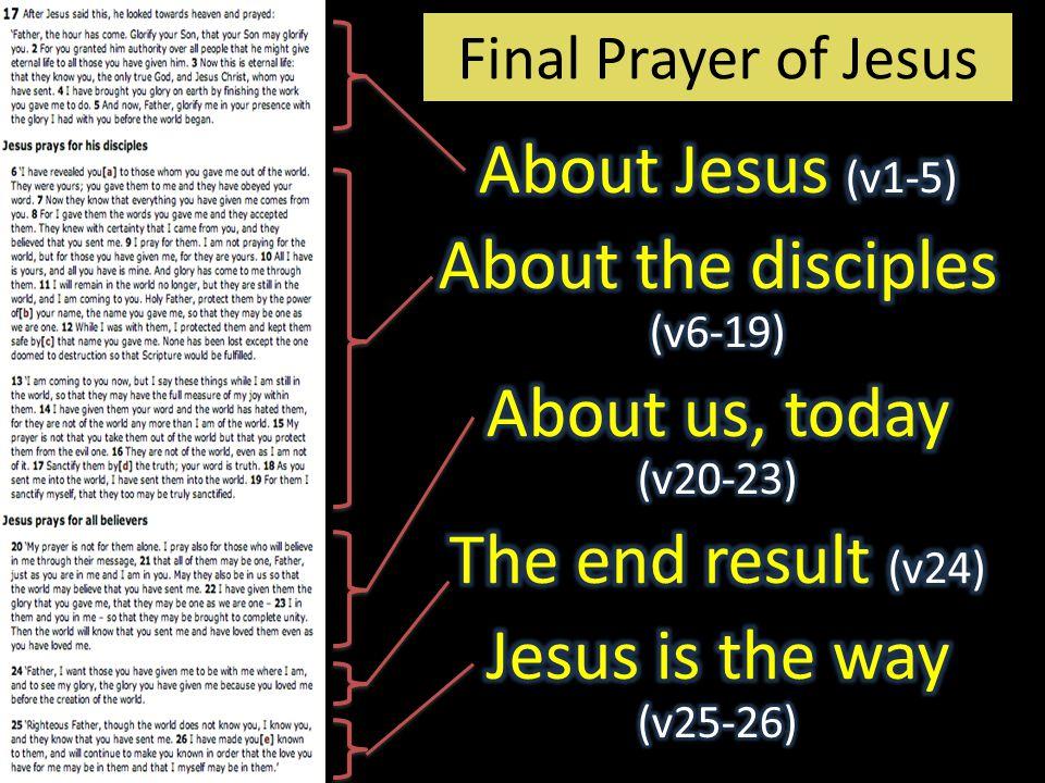 Final Prayer of Jesus