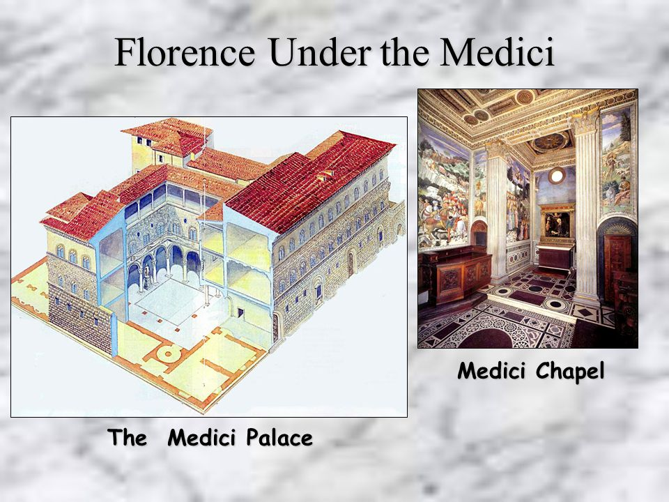 Lorenzo the Magnificent 1478 - 1521 Cosimo de Medici 1517 - 1574