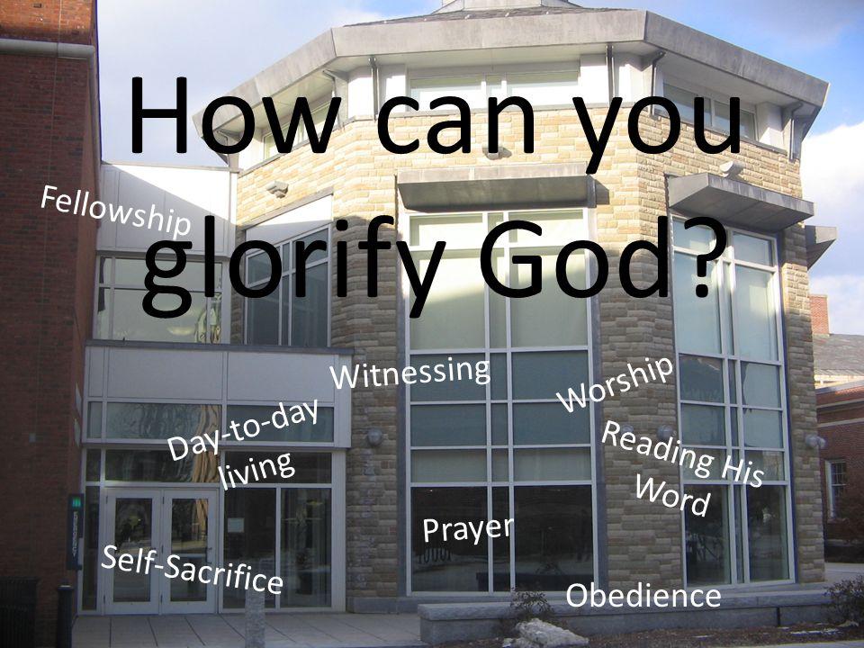 Worship Reading His Word Prayer Fellowship Glorify God.