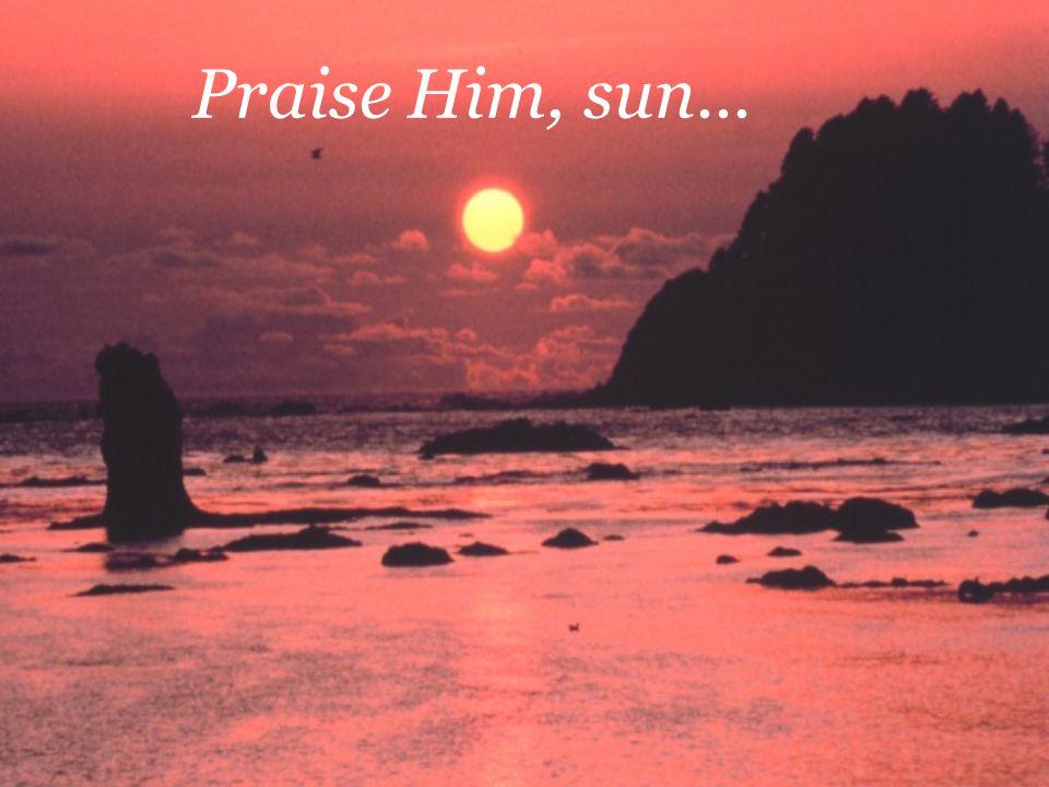 Praise Him, sun...