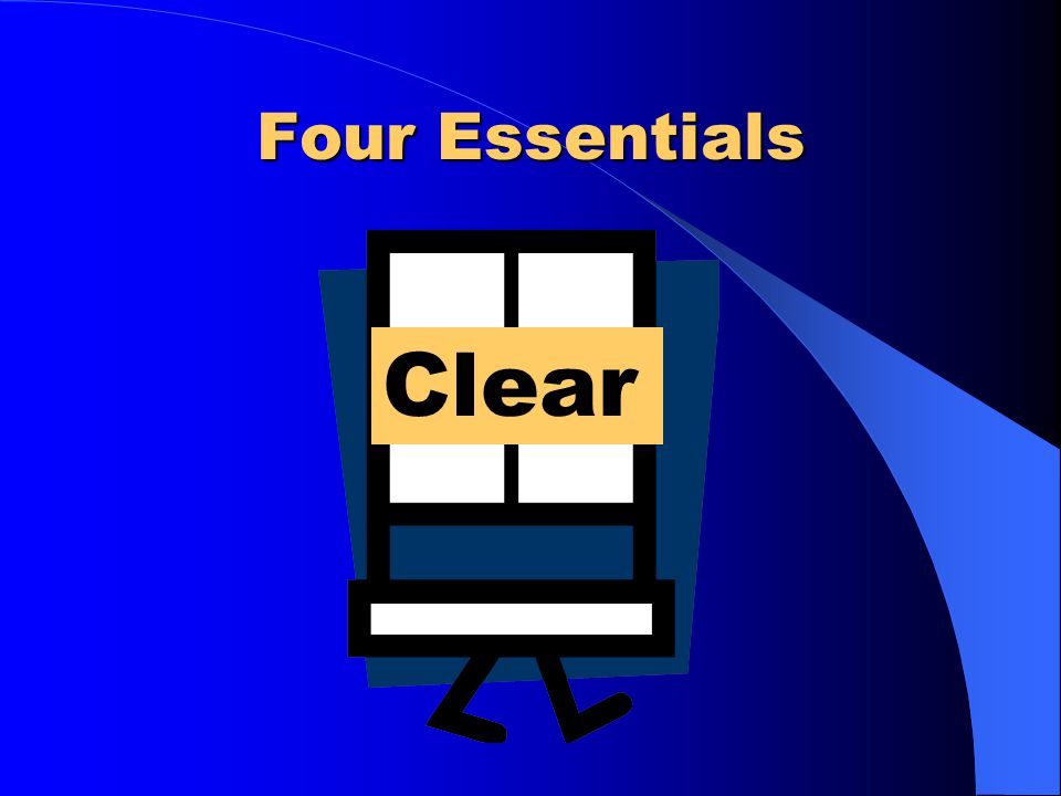 Four Essentials Clear