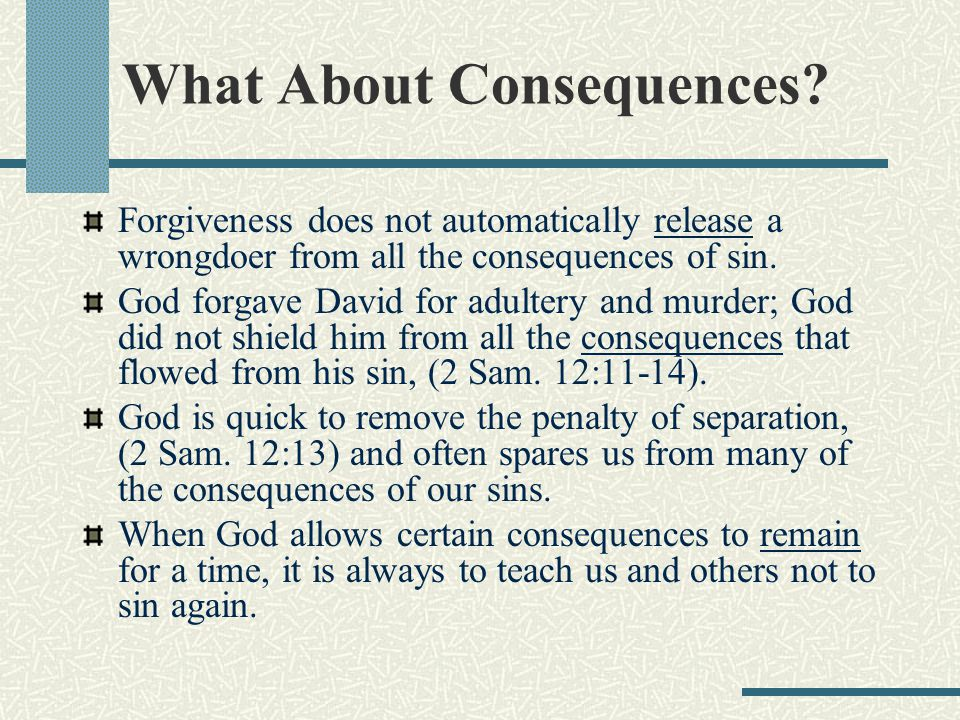 What About Consequences.