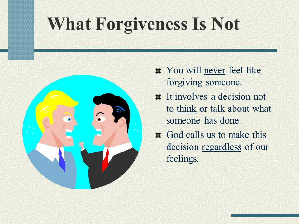 Overcoming Unforgiveness The promises of forgiveness are sometimes difficult to make and even harder to keep.