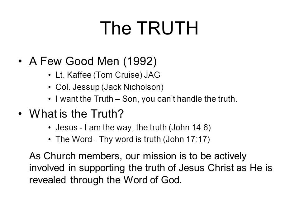 The TRUTH A Few Good Men (1992) Lt. Kaffee (Tom Cruise) JAG Col.