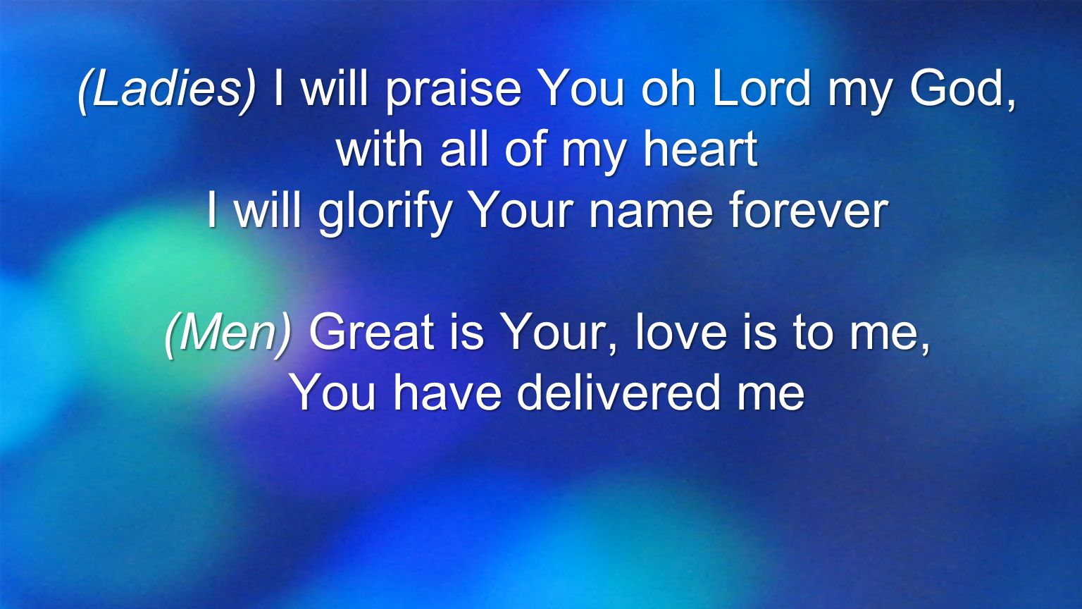Every blessing You pour out I'll… turn back to praise When the darkness closes in, Lord still I will say,