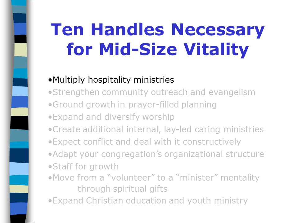 Seven Struggles of the Mid-Sized Church Property Property issues create new tension at mid- size.