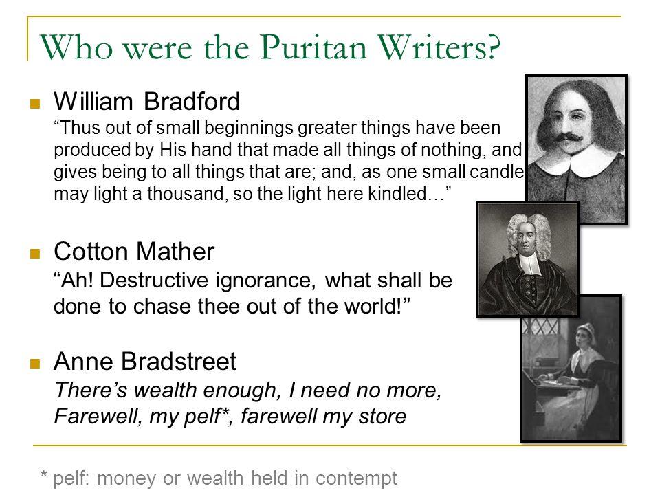 Who were the Puritan Writers.