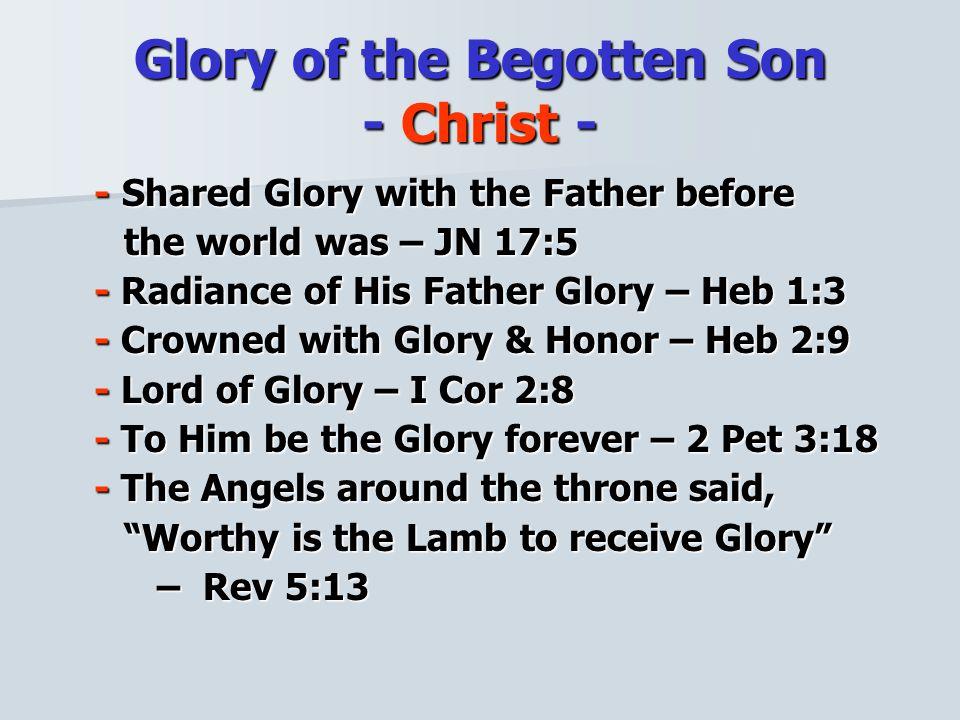 How do we Glorify God & Christ.
