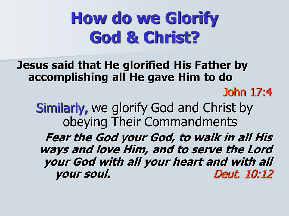 Consider Is the Glory of God departing from the Unitied States of America.