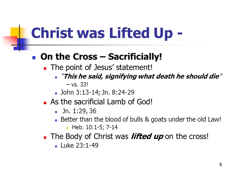 7 Christ was Lifted Up - At His Transfiguration - Authoritatively.
