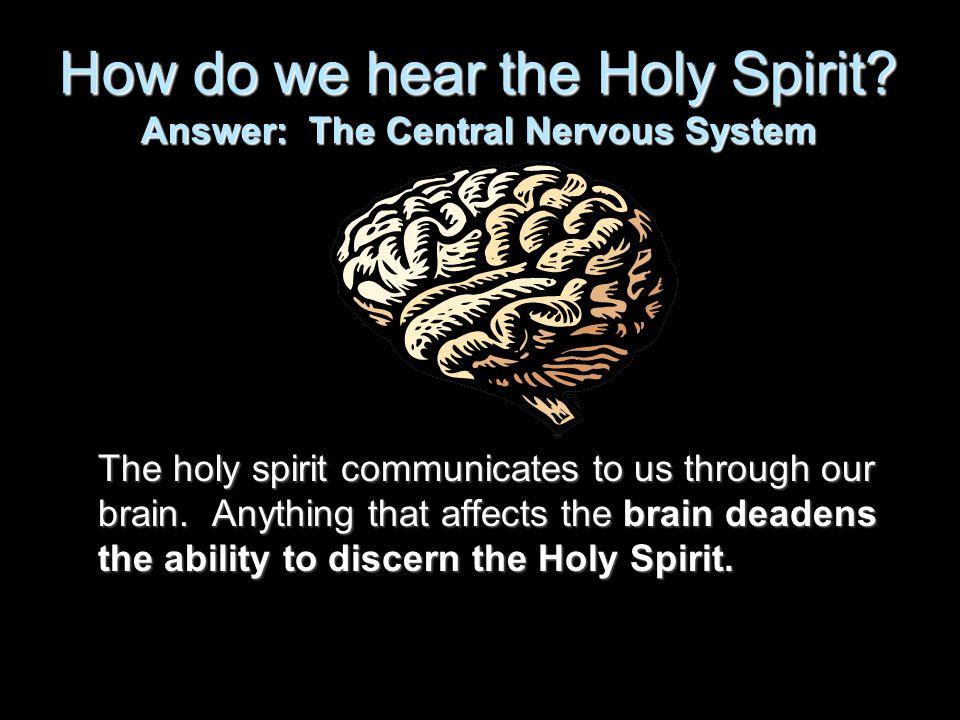 How do we hear the Holy Spirit.