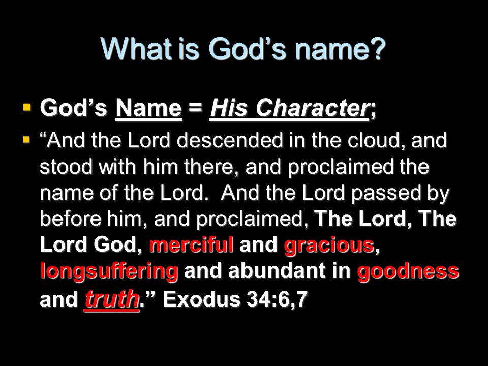 What is God's name.