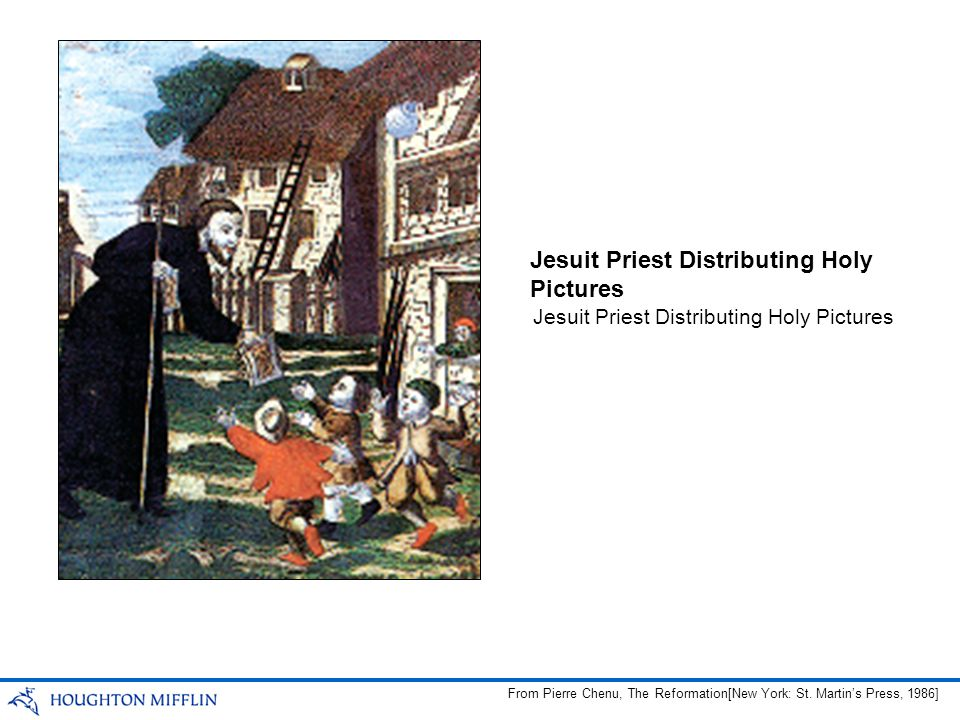 Jesuit Priest Distributing Holy Pictures From Pierre Chenu, The Reformation[New York: St.
