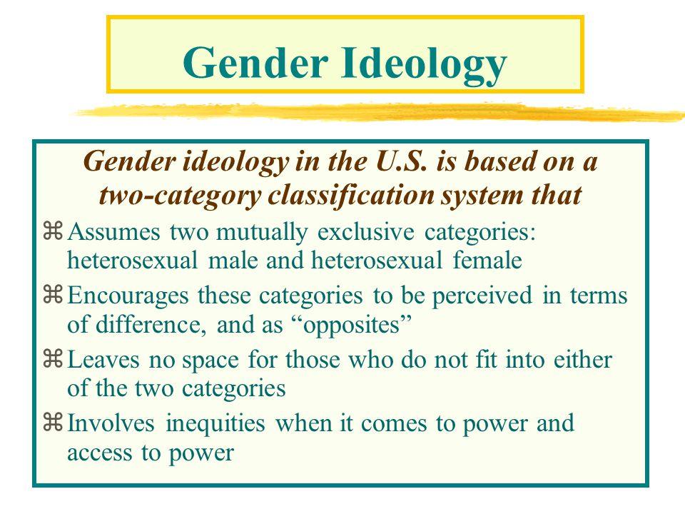 Gender Ideology Gender ideology in the U.S.