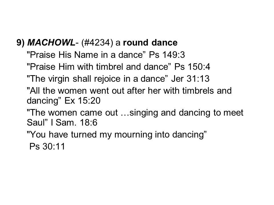 9) MACHOWL- (#4234) a round dance