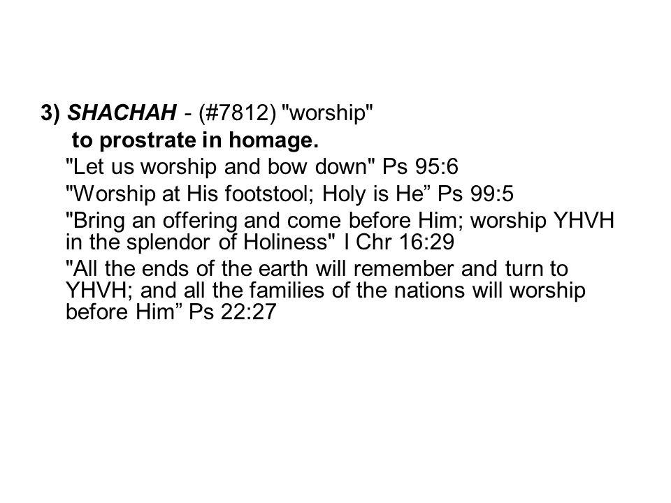 3) SHACHAH - (#7812)