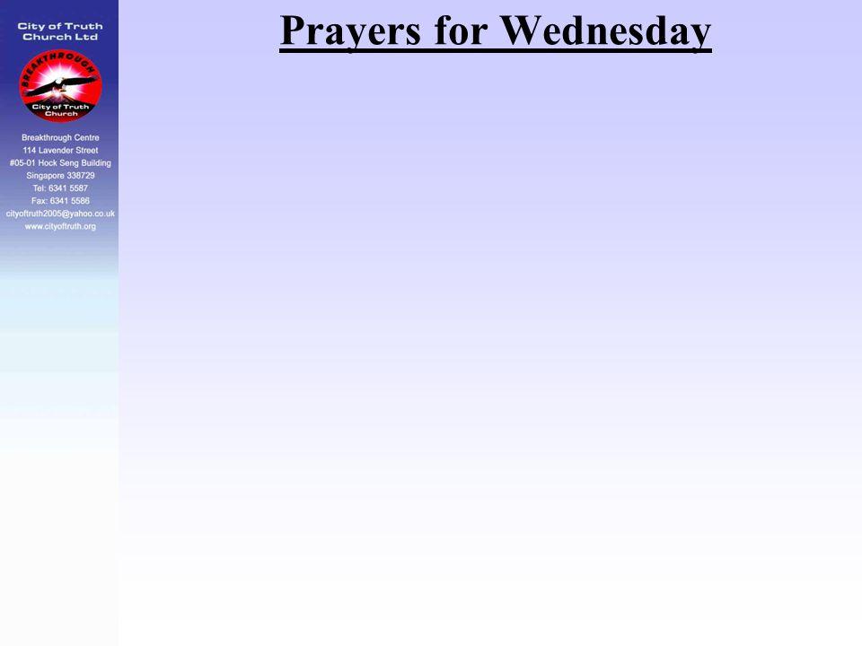 Prayers for Wednesday