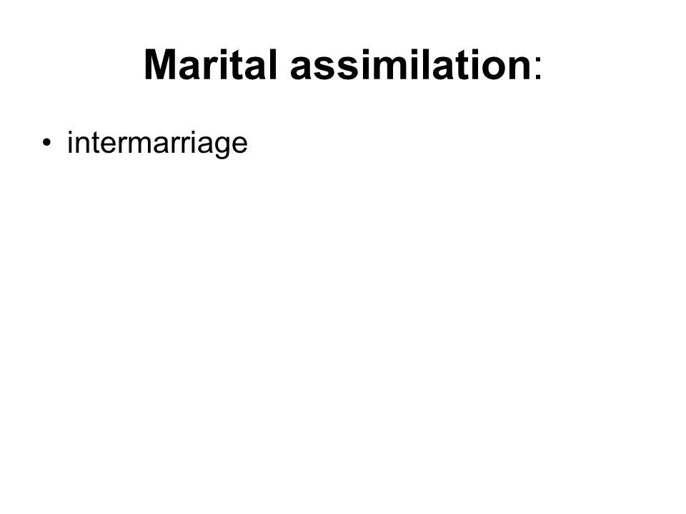 Marital assimilation: intermarriage