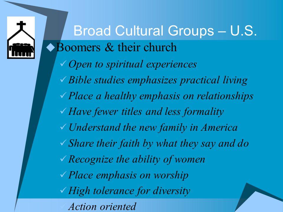 Broad Cultural Groups – U.S.