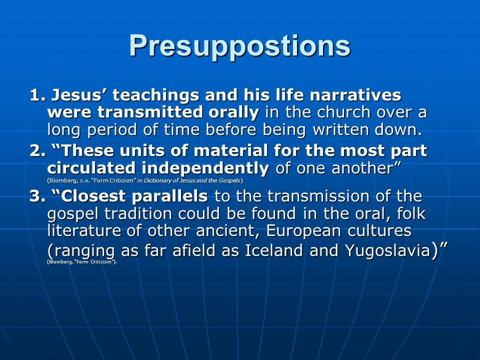 Presuppostions 1.