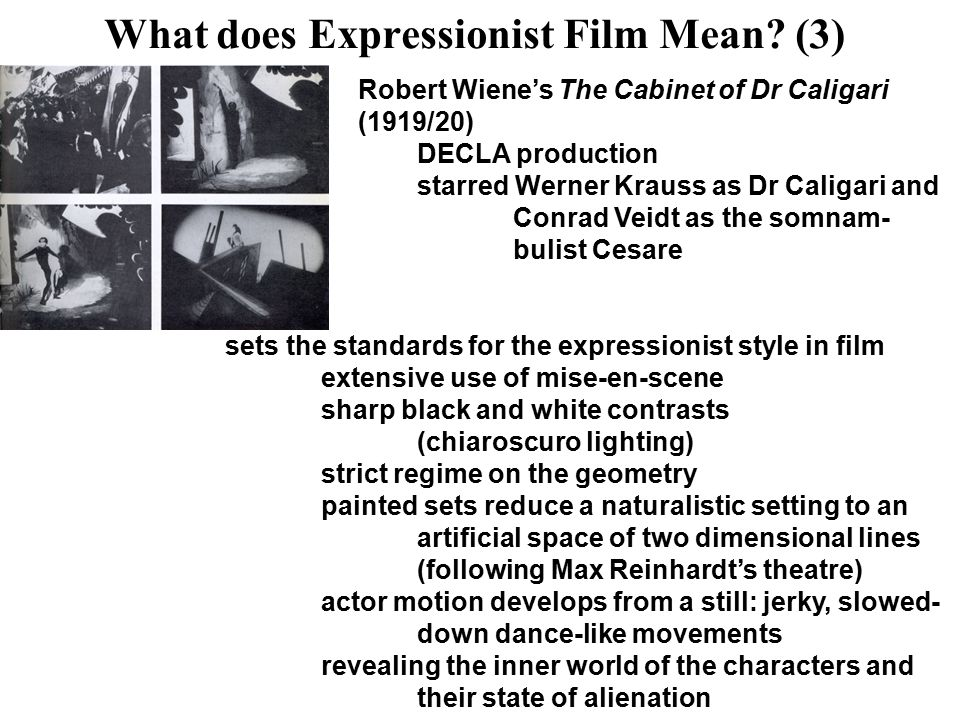 What does Expressionist Film Mean.