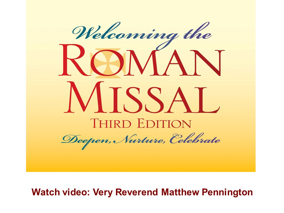 Watch video: Very Reverend Matthew Pennington