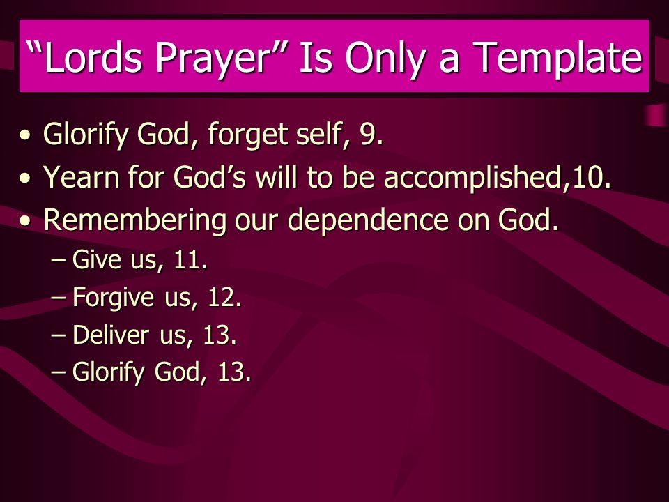 Glorify God, forget self, 9.Glorify God, forget self, 9.