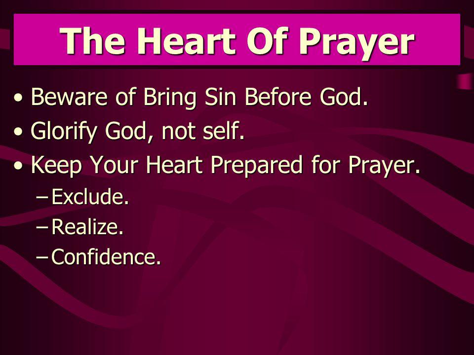 Beware of Bring Sin Before God.Beware of Bring Sin Before God.