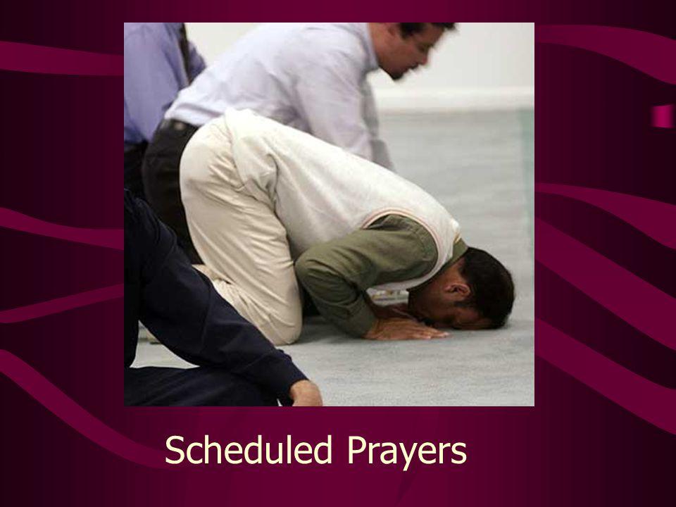 Scheduled Prayers