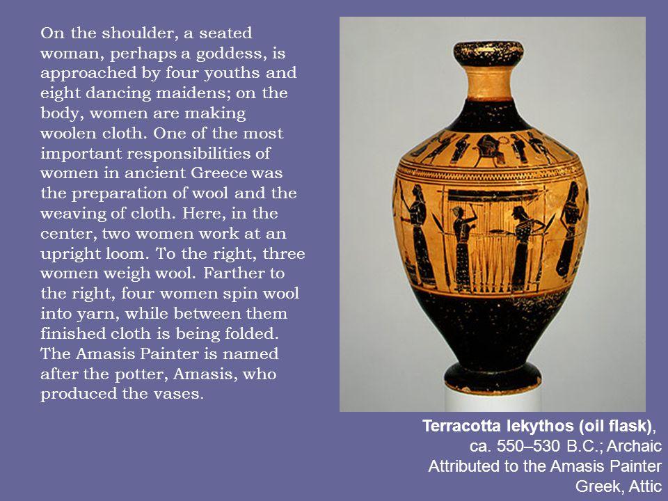Terracotta lekythos (oil flask), ca.