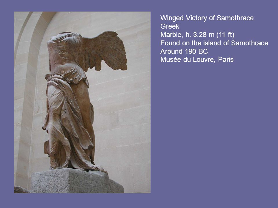 Winged Victory of Samothrace Greek Marble, h.