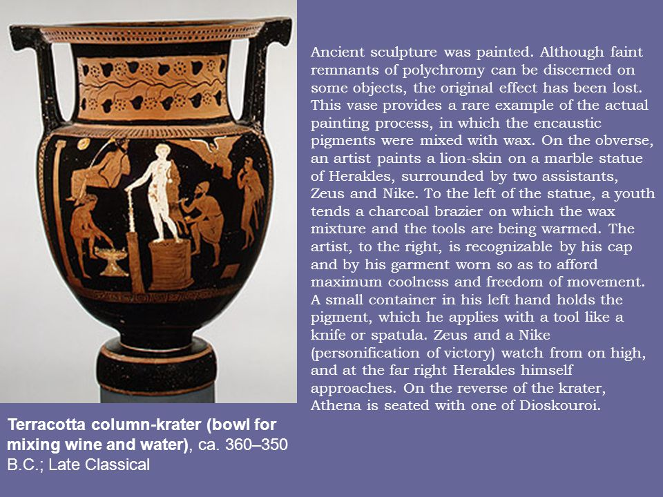 Terracotta column-krater (bowl for mixing wine and water), ca.