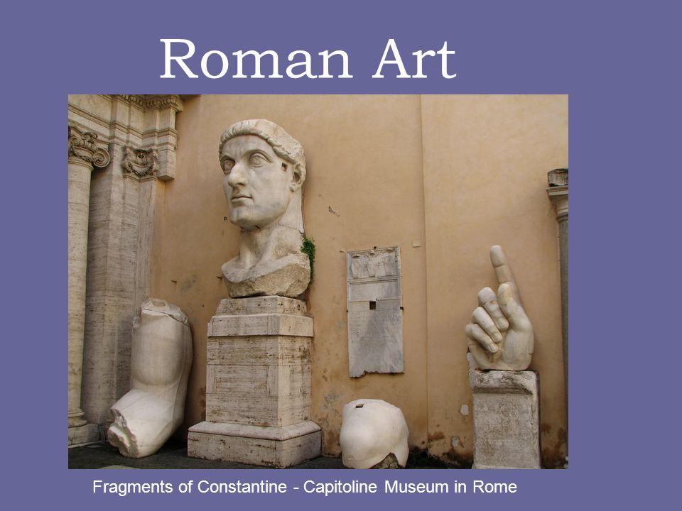 Roman Art Fragments of Constantine - Capitoline Museum in Rome