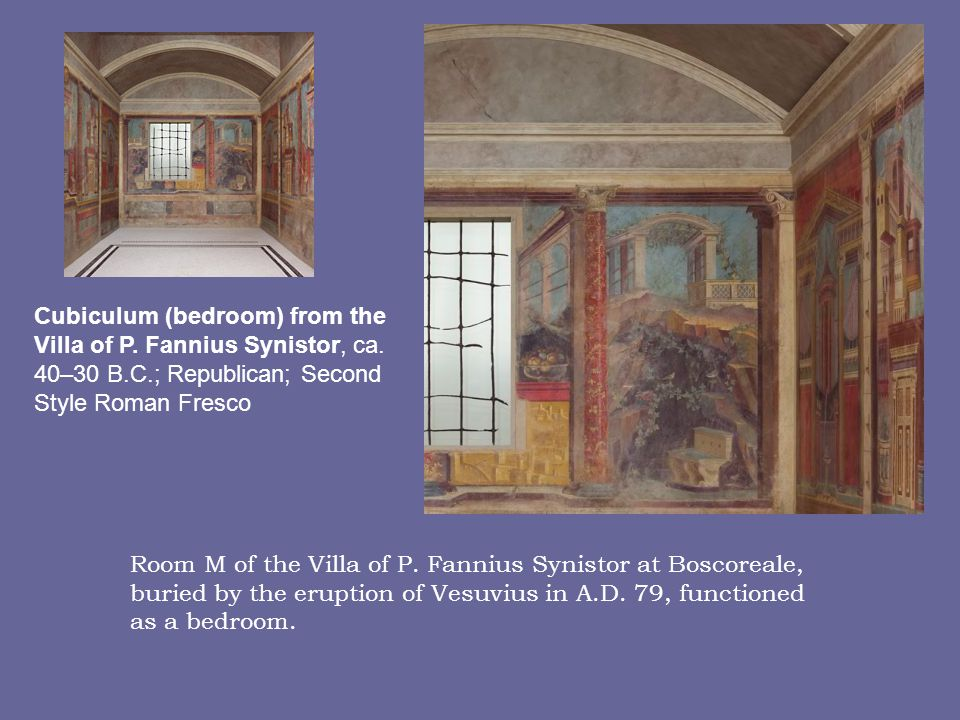Cubiculum (bedroom) from the Villa of P.Fannius Synistor, ca.